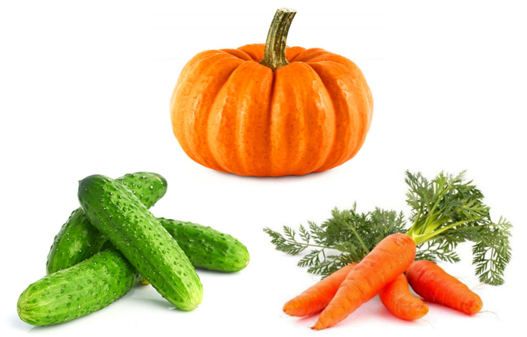 Тыква, огурцы, морковь