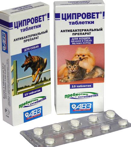 Ципровет в таблетках